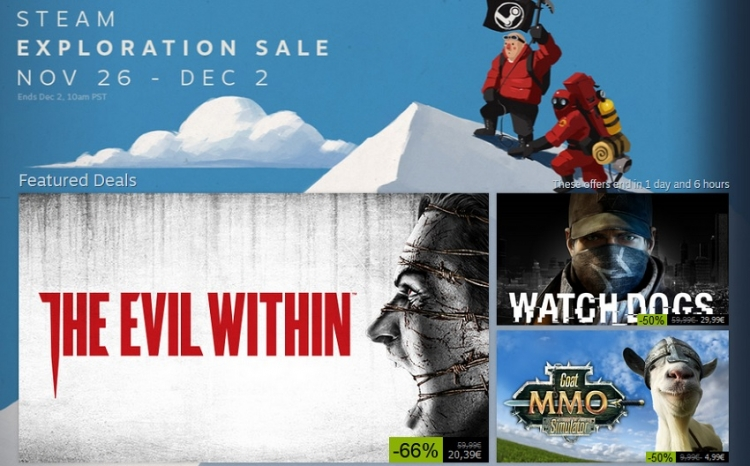 Počela Steam Exploration Sale rasprodaja igara