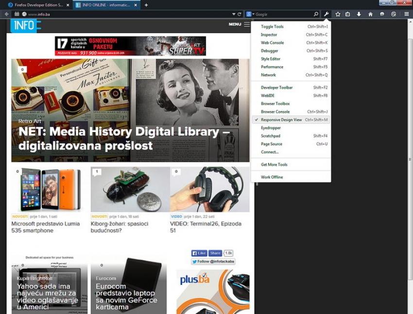 Objavljen Firefox Developer Edition