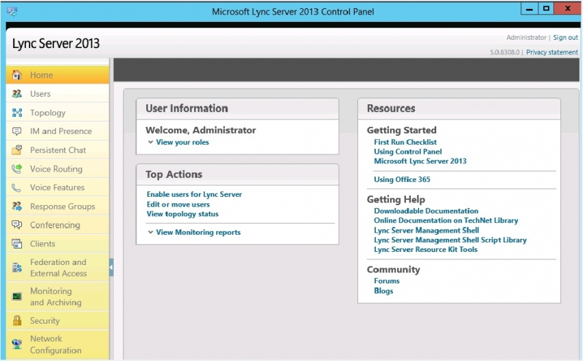 Administrative Tools za MS Lync Server